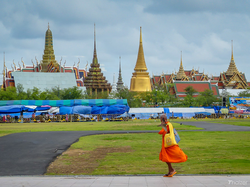 Sanam Luang royal field in front of the Grand Palace, Bangkok