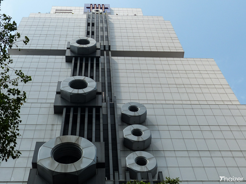 nuts and bolts on the Bangkok robot building