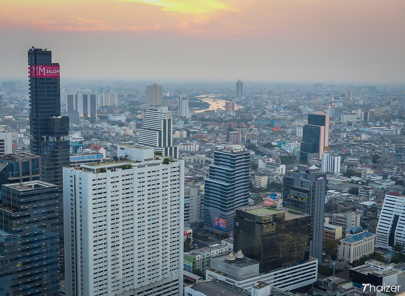 view from Cloud 47 rooftop bar Bangkok
