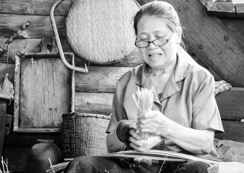 bamboo weaving at Mae Kampong, Chiang Mai