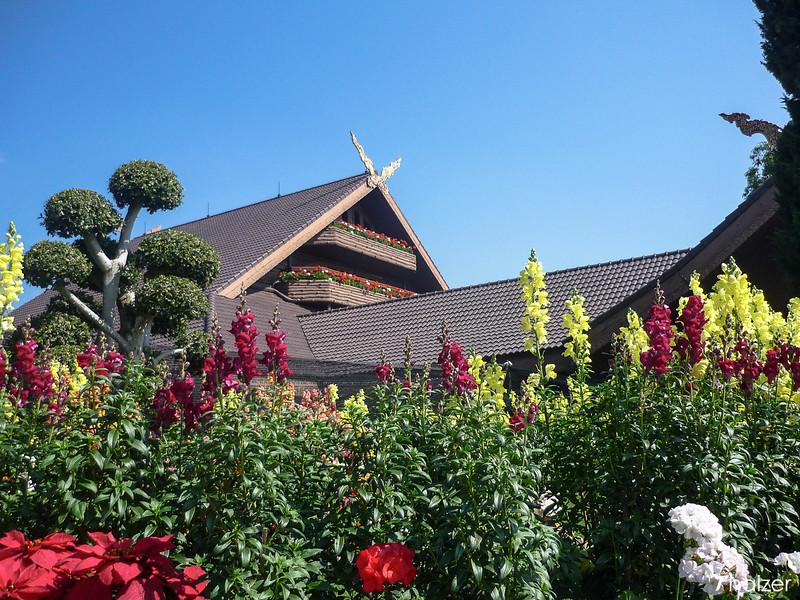 Royal villa at Mae Fah Luang Gardens, Doi Tung, Chiang Rai