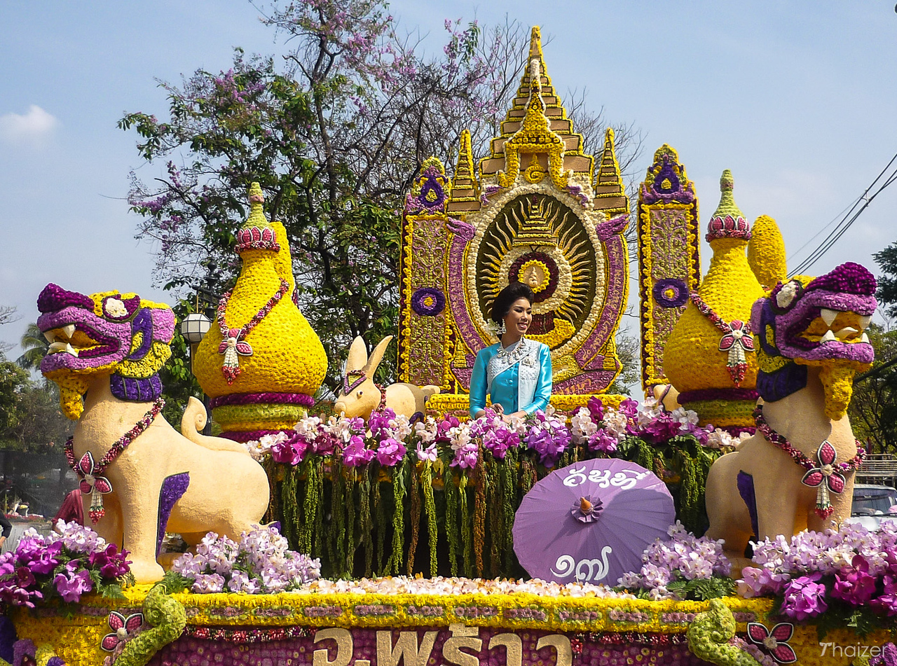 flower float at the Chiang Mai Flower Festival