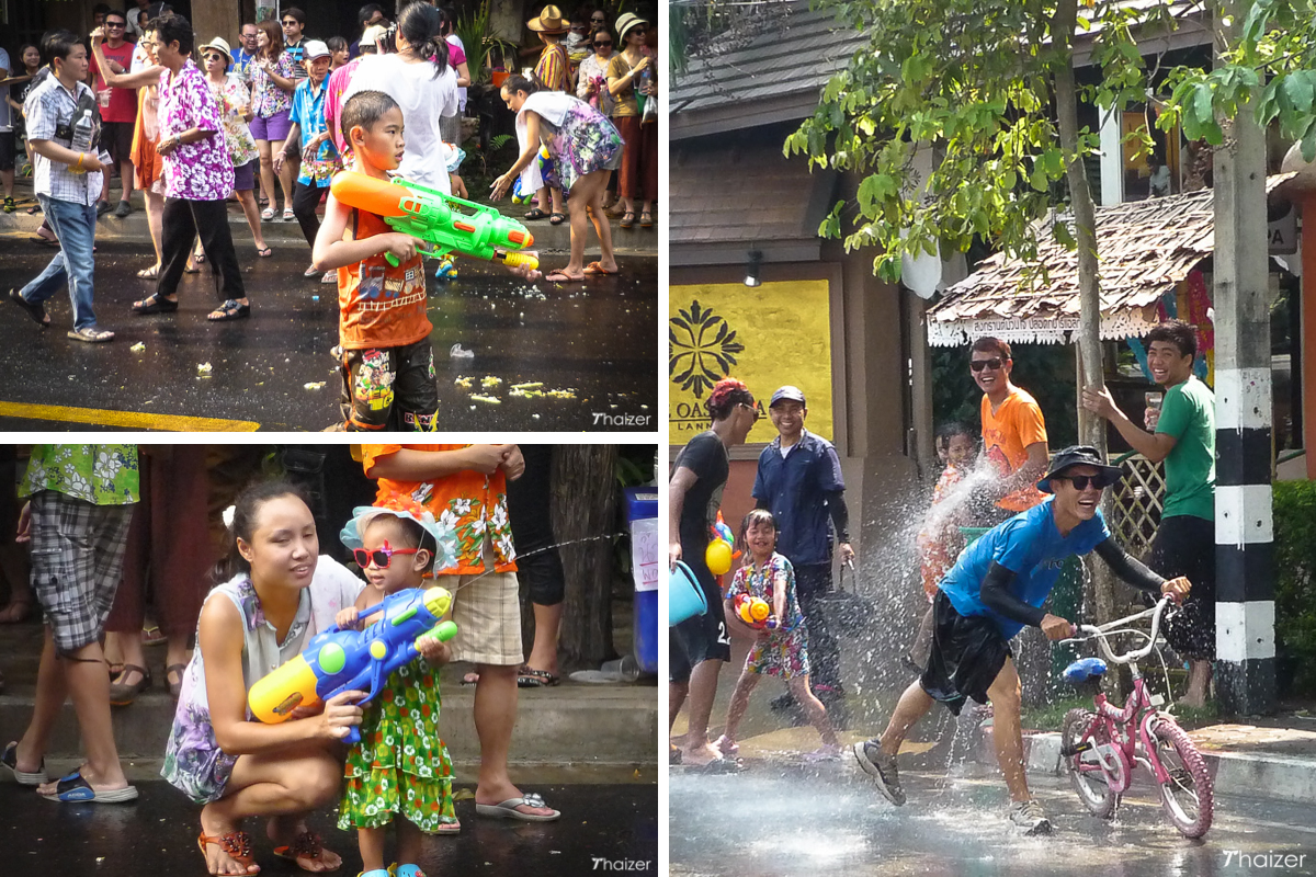 Songkran collage Chiang Mai