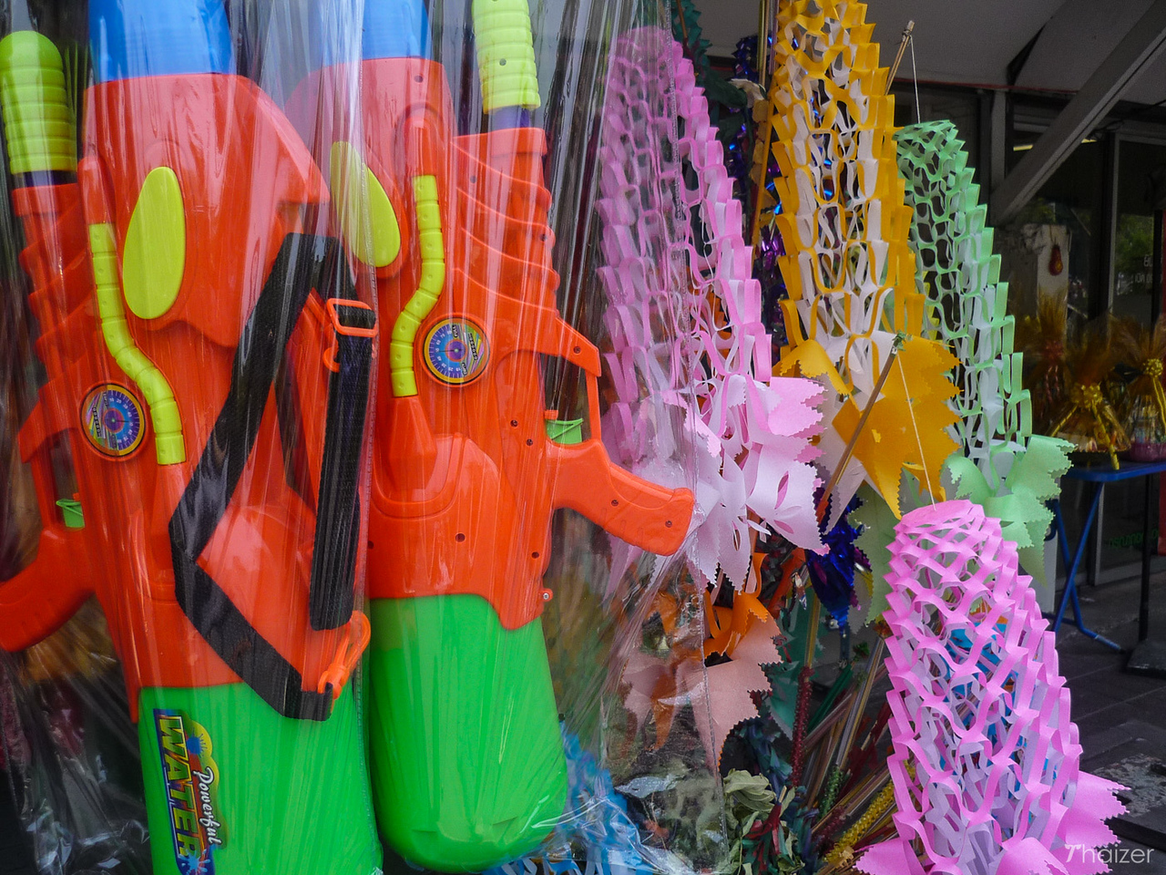 Songkran water pistols