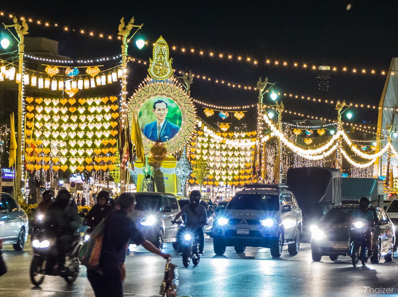 illuminations in Bangkok for HM the King's birthday