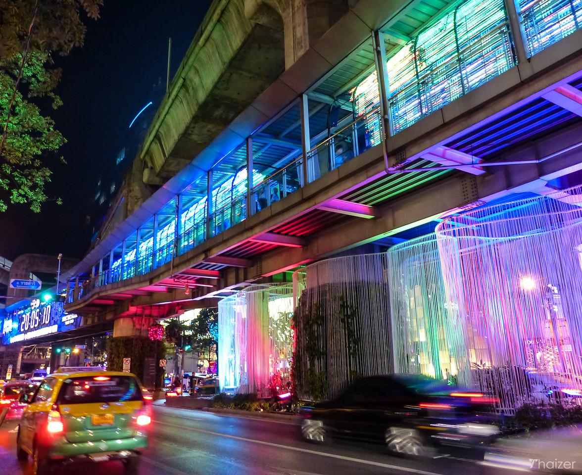 Skywalk lights at Ratchaprasong, Bangkok
