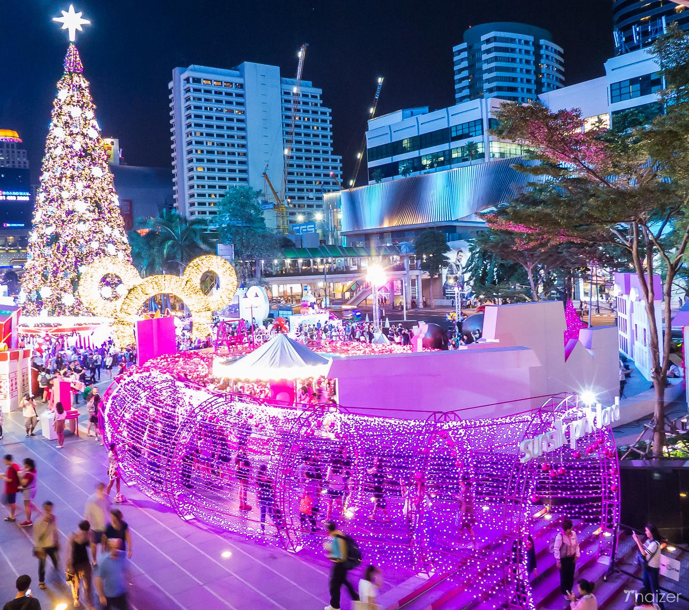 Christmas tree at Central World, Bangkok