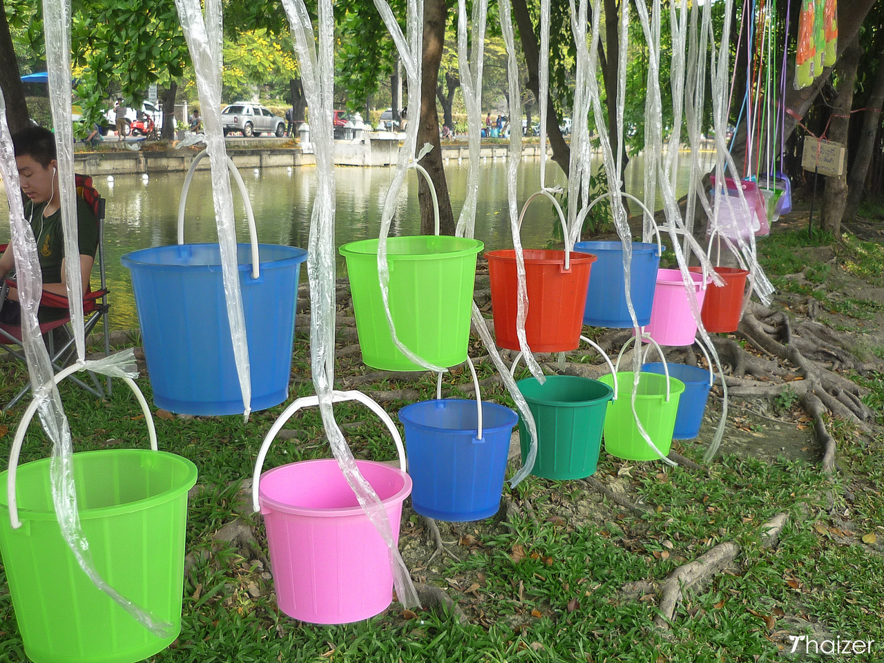 Songkran buckets for sale in Chiang Mai