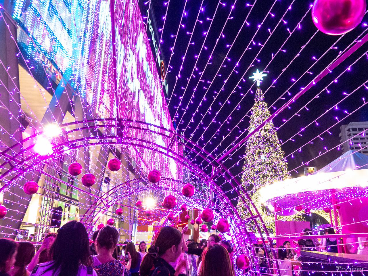 festive display at Central World, Bangkok
