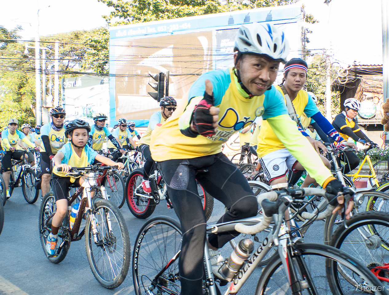 thumbs up for Bike for Dad, Thailand