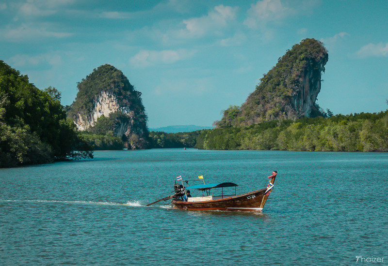 Khao Khanap Nam viewed from Krabi Town