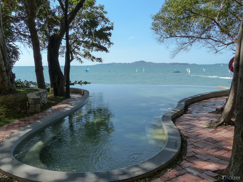 infinity pool at The Monttra hotel in Pattaya