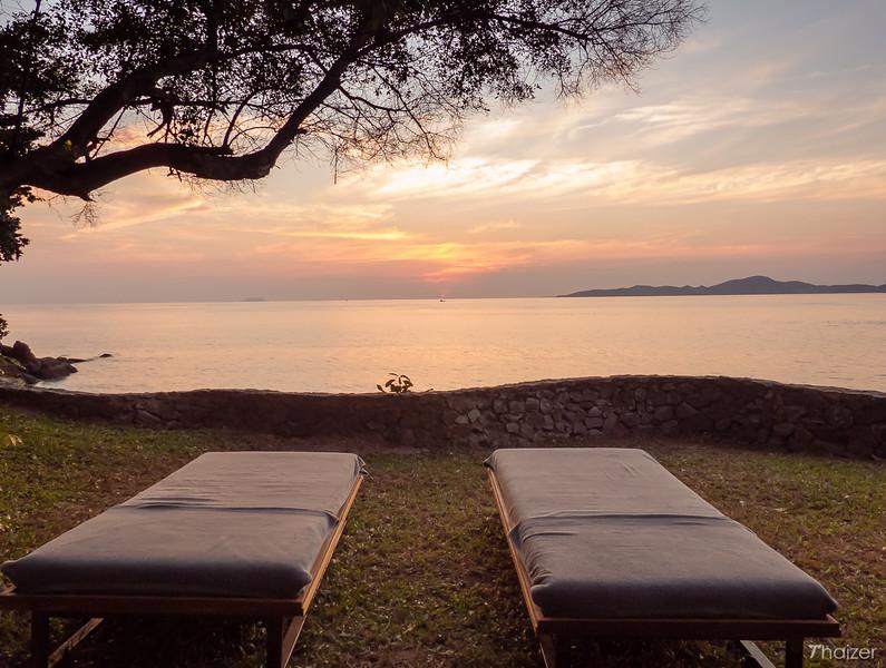 sunset views over to Ko Larn (Coral Island), Pattaya